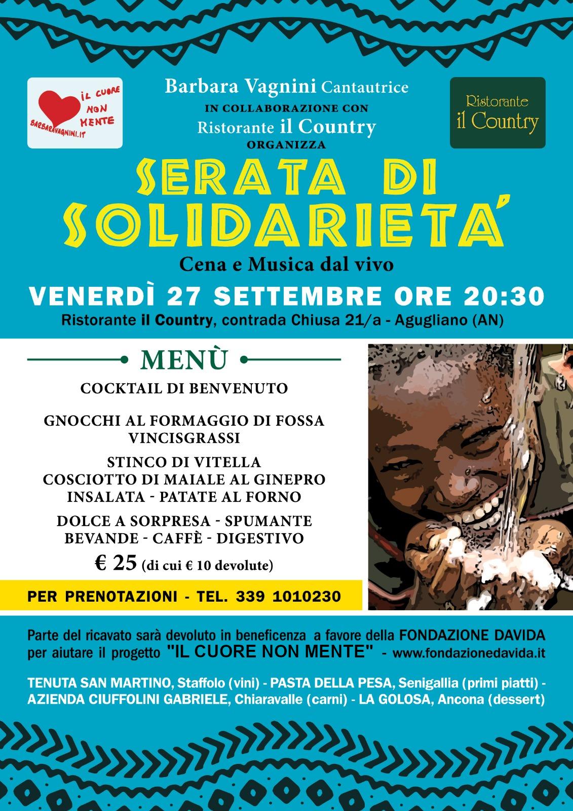 Poster of Il Cuore Non mente, serata di solidarietà